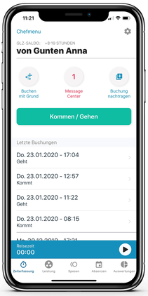 Native App Zeiterfassung